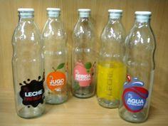 Botella de vidrio decorada - Comprar en Me Gustó