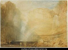 High Force, Fall of the Trees, Yorkshire, 1816 - Joseph Mallord William Turner - www.william-turner.org