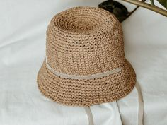 Panama Raffia baby. Baby girl hat summer. Eco friendly baby hat. Baby Girl Hats, Girl With Hat, Raffia Hat, White Whale, Scrub Caps, Panama Hat, Ua, Trending Outfits, Unique Jewelry