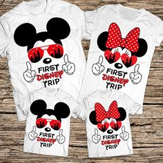 First Disney Trip family shirts, Disney sunglasses family shirts, Disney Castle family shirts, Disney family shirts, Disney vacation shirts   HOW TO ORDER family members from filter menu or add as many shirts as you need from same filter all sizes and Disney Vacation Shirts, Disney Shirts For Family, Disney Vacations, Disney Trips, Disneyland Trip, Disney Family Outfits, Family Vacations, Disney Diy, Disney Land