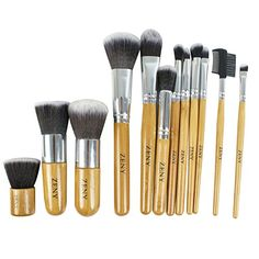 dc697eabc757d Zeny 111 Piece Makeup Brush Set 12 Pcs Professional Bamboo Handle Foundation  Blending Blush Eye Face Liquid Powder Cream Cosmetics Brushes 111   See  this ...