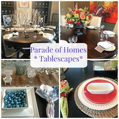 Touring model homes is an amazing way to get ideas for your home and these Parade of Homes Tablescapes are a whole lot of inspiration in one place. Go to http://www.mustlovehome to check them out!