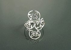 Butterflies Filigree Ring Sterling Silver Ring Cute by KRAMIKE