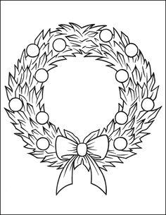 Nativity Coloring Pages, Printable Christmas Coloring Pages, Christmas Printables, Coloring Pages For Kids, Christmas Wreath Image, Christmas Colors, Christmas Wreaths, Advent Wreath, Christmas Pictures