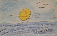 Île de White Head_Couché de soleil_725_pastels Rembrandt Rembrandt, Belly Top, Earth Day Projects, Graduation Project, Art Abstrait, Photos, Told You So, Pastels, Figurative