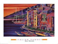 Italian Sunset by Ron Mondz art print