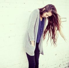 Cozy sweaters and long hair don't care <3 #brandymelville