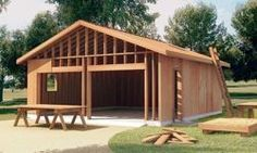 Free Garage and Carport Building Plans and Do It Yourself Building Guides Plan Garage, Carport Garage, Garage House, Diy Garage, Garage Shop Plans, Garage Ideas, Door Ideas, Building A Garage, Building Plans
