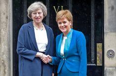 Die neue Premierministerin May will es sich mit den Schotten nicht verderben. Sie werde den offiziellen Antrag zum EU-Austritt erst stellen, wenn eine gesamtbritische Linie bestehe, kündigte sie an. Scottish Independence, Theresa May, 30th, Suit Jacket, Blazer, Coat, Jackets, Fashion, British