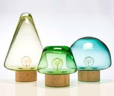 'Skog' lamps by Caroline Olsson for Magnor Glassverk