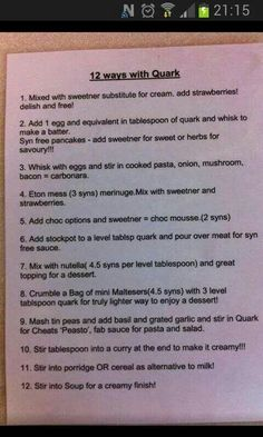 12 ways with quark