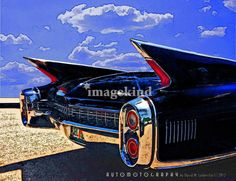 """""""1960 Cadillac Fleetwood"""" by David Caldevilla, Tampa // A U T O M O T O G R A P H Y by David M. Caldevilla © 2012 - As with all of my artwork, you can order this image with or without a border, add, change or eliminate a caption, and change the colors.  Before ordering, just send me an email with your requested changes, and I will... // Imagekind.com -- Buy stunning, museum-quality fine art prints, framed prints, and canvas prints directly from independent working artists and photographers."""