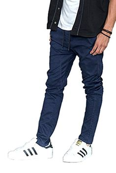 Comaba Mens Denim Basic Slim-Tapered Plus-Size Juniors Stretch Jeans