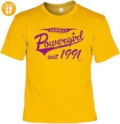 German Powergirl seit 1991 : ultimatives Geburtstags/Jahrgangs-Shirt Spaß-Shirt - geniales Geschenk (*Partner-Link)