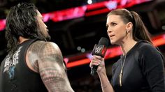 Roman telling Stephanie that he is The Authority now!