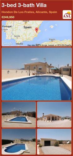 3-bed 3-bath Villa in Hondon De Los Frailes, Alicante, Spain ►€249,950 #PropertyForSaleInSpain