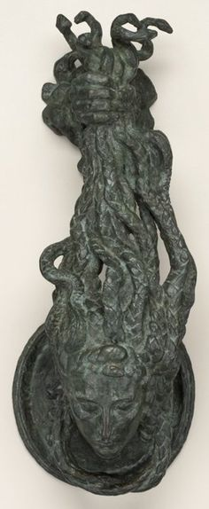 door knocker in the form of medusa's head, emile antoine bourdelle, 1925 Door Knobs And Knockers, Knobs And Handles, Door Handles, Copper Handles, Art Nouveau, Art Deco, Le Corbusier, Cool Doors, Unique Doors