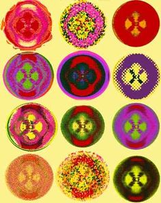 """A Vision of Rosalind - 1. Rosalind Franklins famous Photo 51 shows the mysterious """"X"""" shape that informed Watson and Crick of double helix structure of DNA. In 'A Vision of Rosalind 1', her Photo 51 is reinterpreted giving it due respect in a celebration of colours."""