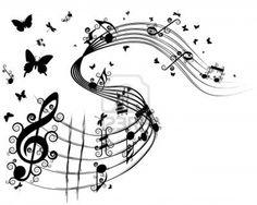 dibujos de notas musicales a lapiz - Buscar con Google