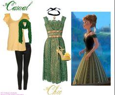 Anna Coronation Dress, Disneybound Outfits, Frozen Fashion, Disney Themed Outfits, Disney Inspired Fashion, Fandom Fashion, Character Outfits, Disney Frozen, Wardrobes