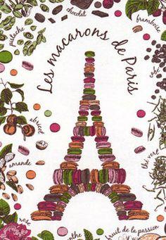 Macarons de Paris Tea Towel