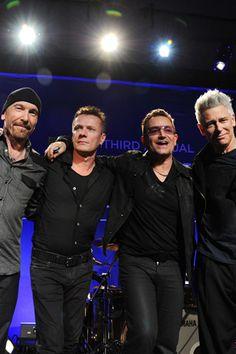 The Edge, Larry Mullen Jr., Bono, and Adam Clayton, of U2.
