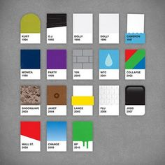 Years in pantone designs. awesome!