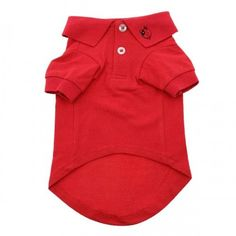 Solid Flame Scarlet Red Dog Polo
