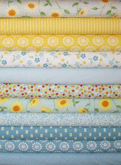 Windham Fabrics, Oh Clementine, Aqua/Grey 11 Total