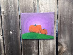 A whimsical Halloween painting. Painted on a canvas with metallic acrylic paint. I have signed and dated all of my works of art. Fall Sale ends Pumpkin Canvas Painting, Whimsical Halloween, Halloween Painting, Harvest, Paintings, Fall, Metal, Autumn, Paint