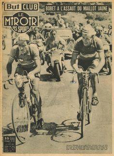 Tour de France 1953. 18^Tappa, 22 luglio. Gap > Briançon. Col d'Izoard. Adolphe Deledda (1919-2003) e Louison Bobet (1925-1983) [But et CLUB - Le Miroir des Sports]