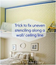 canu0027t seem to get the edges right when stenciling an accent wall no