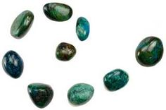 Chrysocolla is a throat chakra stone that resonates with the feminine goddess energy.  It is a stone of teaching that is often attracted to wise women to assist them in passing on their knowledge in a gentle but effective way.  1 Lb Chrysocolla tumbled | Crystals | Minerals www.theancientsage.com