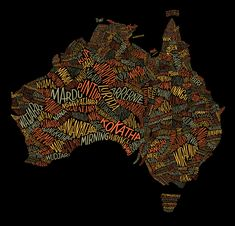 Dave Foster's illustration work for an Australian Geographic article about the many languages spoken by indigenous Australians.