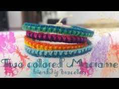 This is a tutorial on how to make a very easy and fast friendship bracelet using macrame knots :) If you have any wishes for the next video please comment be. Macrame Knots, Macrame Bracelets, Bangle Bracelets, Bangles, Friendship Bracelets Tutorial, Bracelet Tutorial, Activities For Kids, Crafts For Kids, Macrame Tutorial