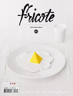 Cover Fricote > favourite new food magazine Graphic Design Tips, Graphic Design Typography, Graphic Design Inspiration, Print Design, Type Design, Design Editorial, Editorial Layout, Logo Oeuf, Mise En Page Magazine