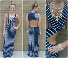 $43. Sexiness and comfort combined into one perfect maxi dress.