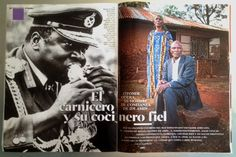A great and scary article from Spanish magazine XL Semanal I picked up during my holidays in Spain. Reminiscent of 'The Last King of Scotland' about the fysician of Idi Amin, this article is about the loyal cook of the dictator. The cook is still alive, living in Kenia and tells his story to journalist Juan Moreno. What was it like to work for this infamously cruel man? What happened when he spoiled a meal? And is it true that Idi Amin ate human flesh?