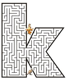Free Printable Maze of the letter k