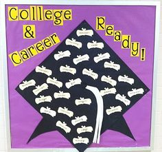 "I created a bulletin board to showcase vocabulary related to college and career readiness! My ""College and Career Ready! Counselor Bulletin Boards, College Bulletin Boards, College Board, College Tips, Career College, College Success, High School Counseling, Career Counseling, School Counselor"