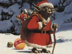 Santa yoda.  Funny for the boys at Christmas.