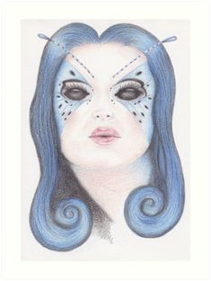 / I used Faber-Castell polychromos to draw this image. Canvas Art Prints, Canvas Wall Art, Framed Prints, Polychromos, Faber Castell, Blue Butterfly, Tag Art, Art Boards, Colored Pencils