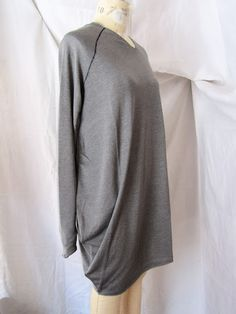 Lost & Found light grey dusted silk tunic