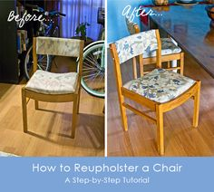 how to reupholster a dining chair - Google Search