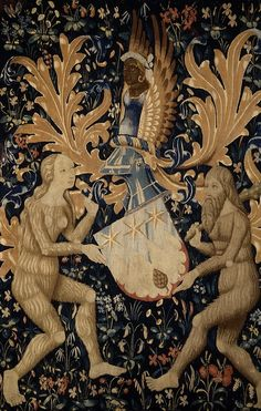 Armorial Tapestry France or Flanders, 1480-1520 Wool; tapestry weave 57 x 38 in. (144.78 x 96.52cm) #france #flanders #13thcentury #14thcentury