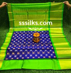 Indian Handloom Sarees and Silks Kuppadam Pattu Sarees, Handloom Saree, Pure Silk Sarees, Different Patterns, Picnic Blanket, Contrast, Weaving, Colours, Indian