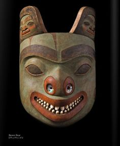 Pacific NW Coast Indian Mask, Scott Jensen at the Stonington  ♨️More At FOSTERGINGER At Pinterest ♨️