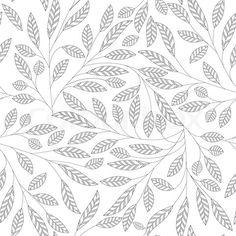 Continuous leaf pattern.