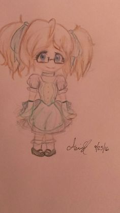"""Cute girl that """"happens"""" to resemble me in a cute little dress! Dress was inspired by Elizabeth from Black Butler and Madoka from Madoka Magica (although I didn't realize the second one until I looked at the outfit as a whole and saw I accidentally made practically a color switched version of it.....)"""
