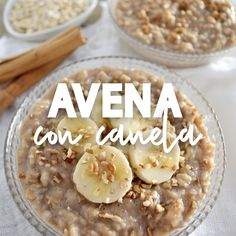 Avena con canela If you are looking for a delicious, comforting breakfast then this cinnamon oatmeal Sweet Recipes, Snack Recipes, Dessert Recipes, Cooking Recipes, Comidas Fitness, Good Food, Yummy Food, Kitchen Recipes, Smoothie Recipes